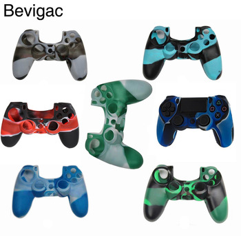 Bevigac Camouflage Series Silicone Protective Controller GamePad Case Cover Skin for Sony Play Station Dualshock 4 PS4 PS 4 cool camouflage soft silicone cover case protection skin for sony playstation 4 ps4 for dualshock 4 controller console decals