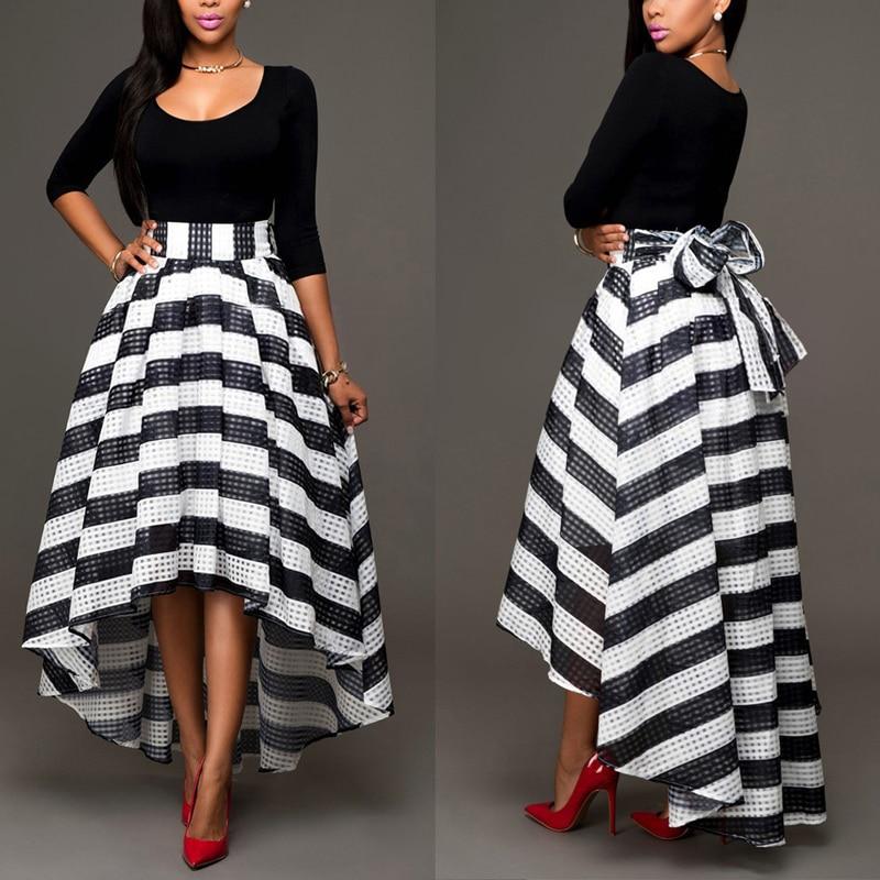 Elegant Two-Piece Long Sleeve Stripe Dress 1