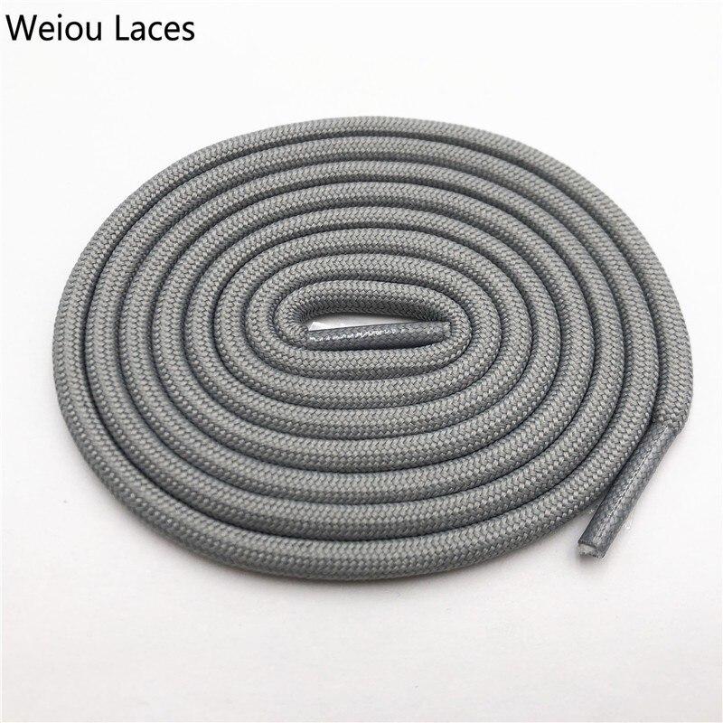 Weiou 0,5 см круглые спортивные шнурки из полиэстера толстые походные шнурки одежда веревка для скалолазания шнурки для ботинок Детские мужские - Цвет: 2702Mid Grey