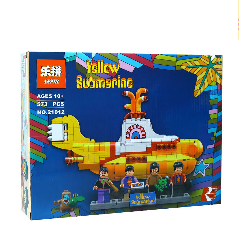 LEPIN 21012 Builder The beatles yellow submarine With 21306 Building Blocks Bricks Policeman Toys Children Educational Gift Toys lepin 02025 city the high speed racer transporter 60151 building blocks policeman toys for children compatible with lego