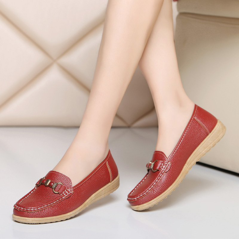 Woman 2018  Leather Women superstar zapatillas mujer casual Shoes Flats  Loafers Slip On Women's Flat Shoes Moccasins soft pu leather red flat shoes 2018 spring zapatos mujer women flats shoes casual superstar ladies home slip on shoes for women
