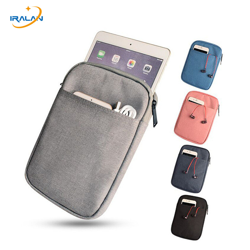 Soft Tablet Liner Sleeve Pouch zipper oxford cloth Bag for Apple iPad Mini 1 2 3 4 7.9 inch Cover for xiaomi mipad 1 2 3 case