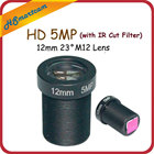 "1/2.5"" HD 5MP Monofocal 12.0mm lens M12 Board Lens + 650nm 850nm 940nm IR Cut Filter FPV"