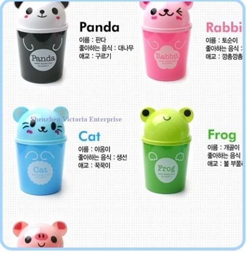 10pcs Kawaii Cartoon Mini Desk Trash Can Bin Design Home Office Tidy Up Case Box Pouch Sundries Holder In Pen Holders From School