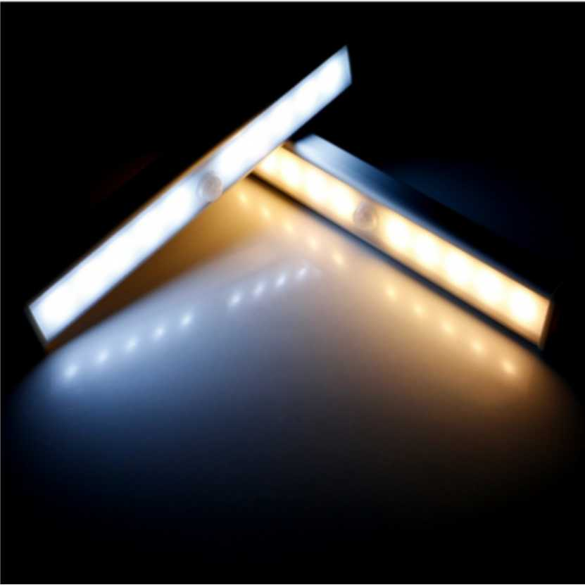 PIR Motion Sensor Night Light Wardrobe lights Led Bar Light With Adhesives Sticker LED Lamp For Cupboard Drawer Closet Kitchen