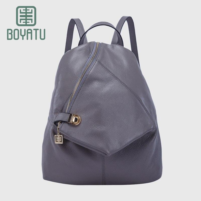 BOYATU Sac A Dos Genuine Leather Women Small Mini Backpacks School bags for Girls Fashion 2017