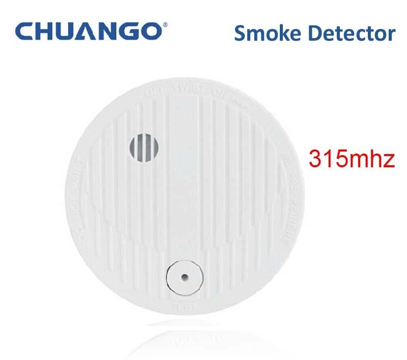 315mhz Chuango SMK-500 Smoke Detector Smoke Fire 85db Loud Alarm Sensor
