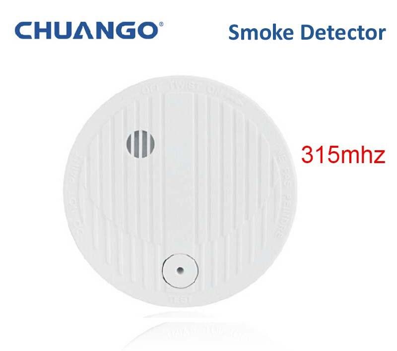 315mhz Chuango SMK 500 Smoke detector smoke fire 85db loud font b alarm b font sensor