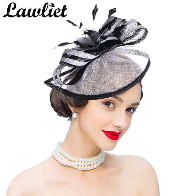 22dfbf97495 Fashion Woman Fascinators Sinamay Hats Kentucky Derby Cocktail Party  Wedding Hair Accessories Fascinator Hat Lady Headpiece A268
