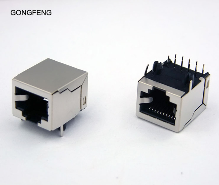 Special Wholesale GONGFENG NEW RJ48 Network Connector <font><b>10P10C</b></font> Shielding Socket 10 core Copper shell Crystal Female 100PCS/lots image