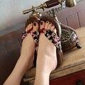 2016 Estilo Japonês Floral Mulas Sapatos de Madeira Geta Kimono Yukata Clog Sandálias tamancos Cosplay Jandals