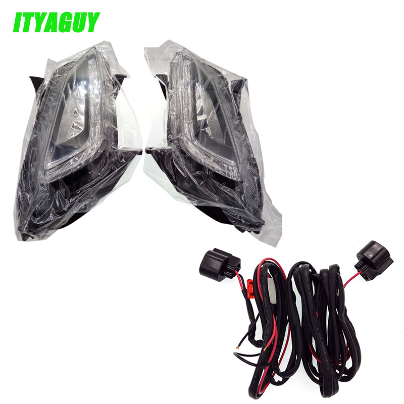 ITYAGUY LED DRL Daytime Running Lights Daylight Fog light LED fog lamp for For HYUNDAI Tucson 2015 2016 2017 diy cnc 4th axis rotary axis with chuck for cnc router engraving machine