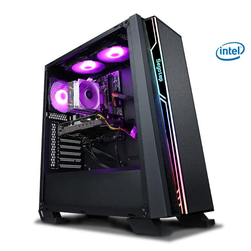 معالج KONTIN R10 I7 8700 LGA1151 RTX 2070 وحدة معالجة الرسومات 8GB وحدة معالجة الرسومات كمبيوتر سطح المكتب إنتل 256GB SSD 8GB RAM 500W PSU لتقوم بها بنفسك ألعاب الكمبيوت...