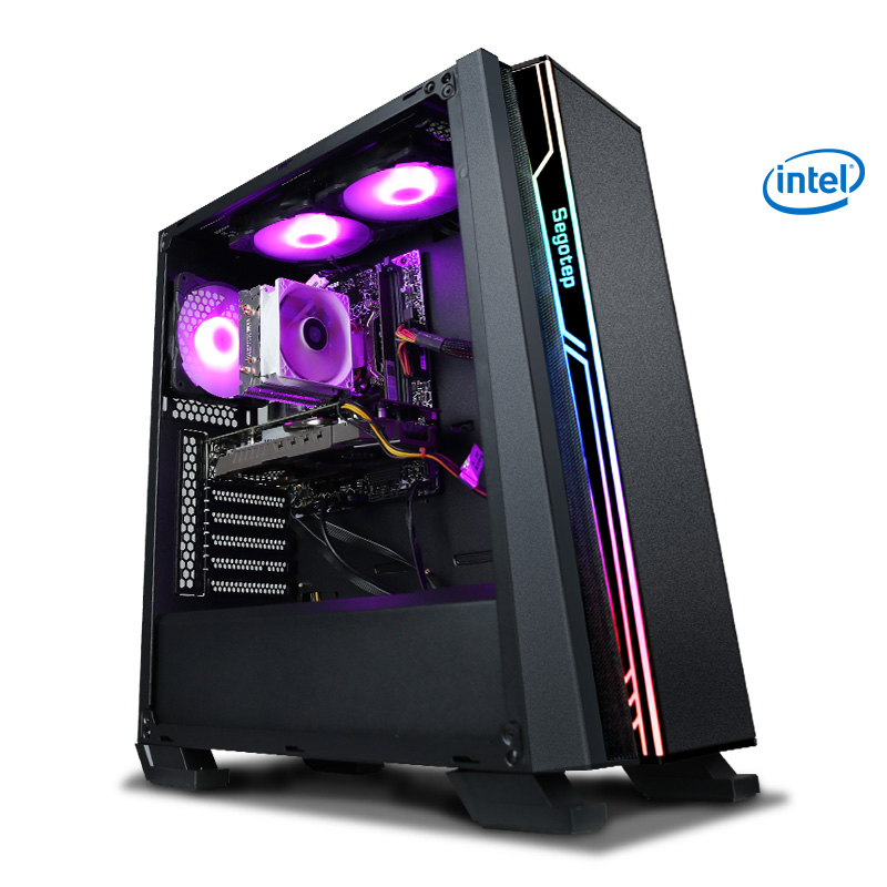 KONTIN R10 I7 8700 Processor LGA1151 RTX 2070 8GB GPU Gaming PC Desktop Intel 256GB SSD 8GB RAM 500W PSU DIY Computer Gamer