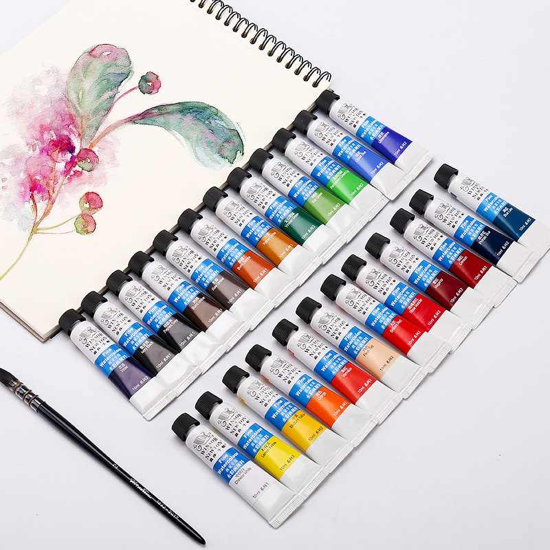 Watercolor Paint 12/18/24 Color Tube Color Pigments Beginner Portable Sketch Set Boxed Single Tubular Art Supplies