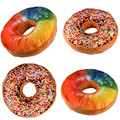 New style Doughnut Shaped Ring Plush Soft Novelty Style Cushion Pillow Donut pillow Funny For Kids Gift