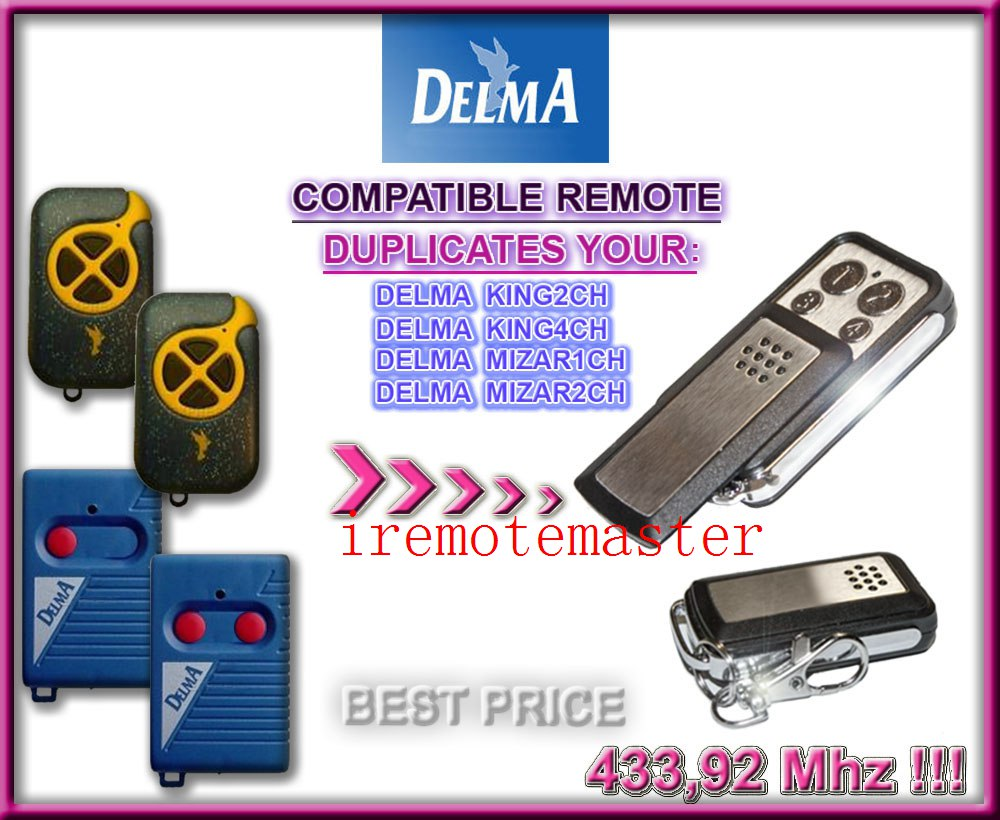 High quality!  For DELMA remote replacement 433MHZ high quality