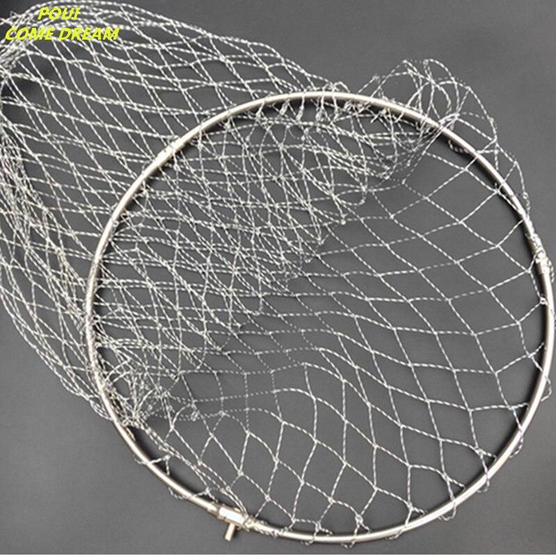 solid stainless steel ring strong nylon line D40cm-60cm landing net of head fishing net fishing network turck net dipneting