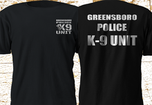 2019 Funny New Greensboro Police Department K-9 Unit Dog Swat Black T-Shirt S-3Xl Double Side Unisex Tee