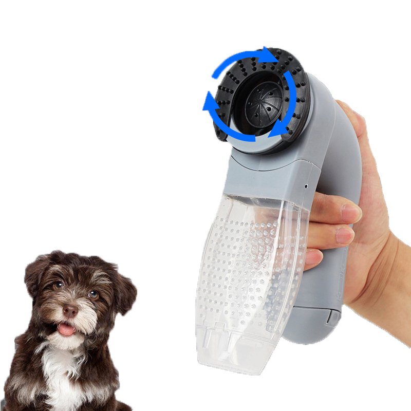 Electric Pet Sucking Portable Cat And Dog Massage Cleaning Vacuum Cleaner  Pet Hair Stick Hair Brush