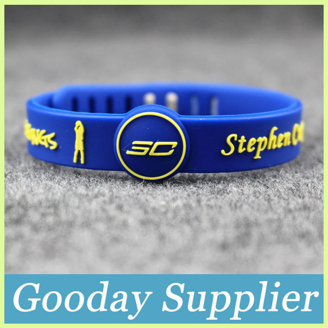 30pcs Lot Debossed I Can Do All Things Sport Silicone Bracelets Stephen Curry