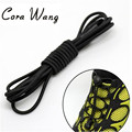 CORA WANG 100CM 1 pair fashion No Tie Locking Shoelaces sneaker elastic Shoelaces children  elasticcordones zapatilla FF2SL01-3