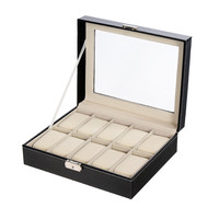 Pinksee New Fashion Luxury Watch Box Jewelry Storage Case Leather Display Boxes Holder Gift Accessories