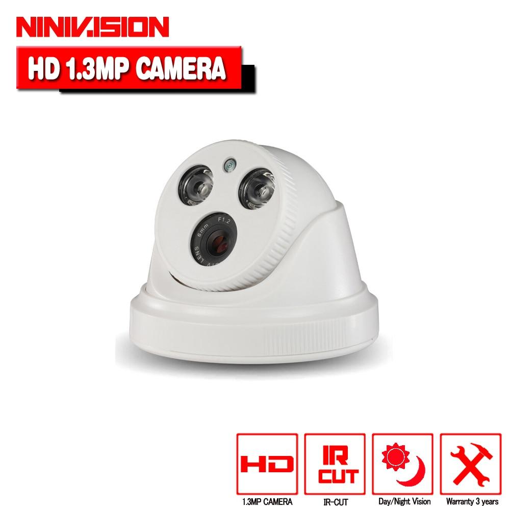 1.3MP 960P AHD camera CVI/TVI/CVBS 4 IN 1 home indoor Dome Night Vision HD Lens 1280*960 security CCTV cameras de seguranca cctv ahd h camera 2 0mp1080p hd analog outdoor waterproof ip66 bnc 40m cctv security night vision cameras de seguranca hot sale