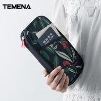 Temena New Arrival Passport Cover Travel Wallet Purse With Hand Strap Zipper Passport Ticket Credit ID