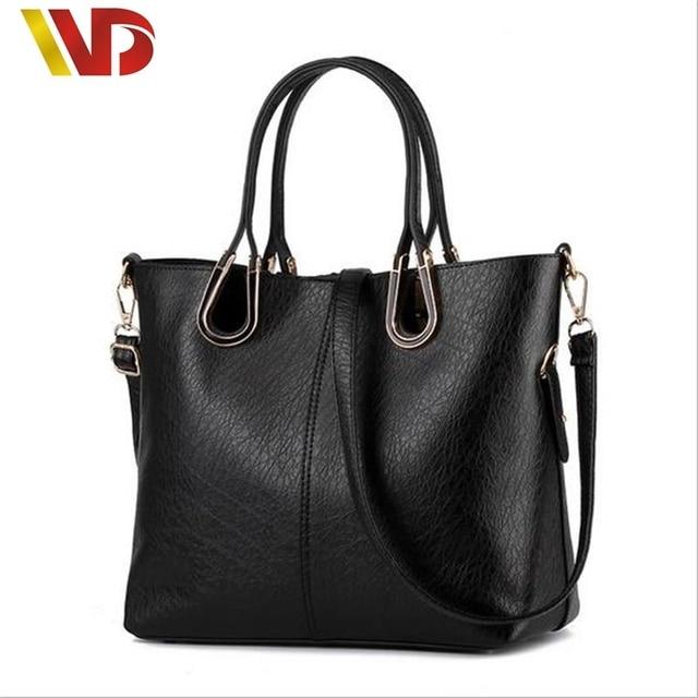 2017 New Fashion Simple Women Leather Handbags Zimu Bag Big Tote Classic Design Ladies Shoulder Messenger Bag Sac a Main Handbag