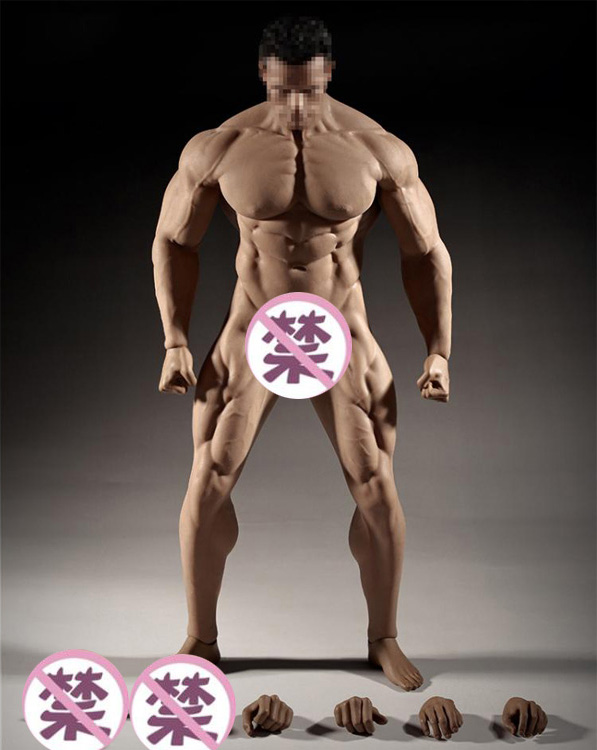 super flexible male seamless body for 1:6TH scale action figure/28 point of articulation suntan skin