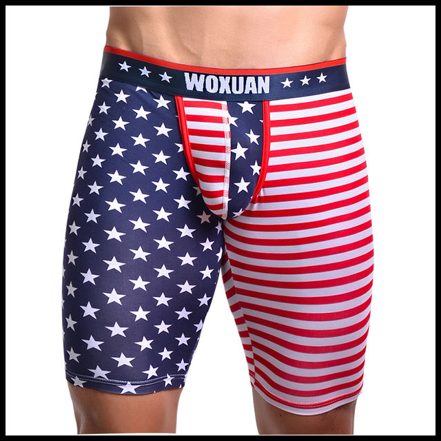 Man Trousers/Men Lounge Pants/American Flag Print Male Cotton Spandex Pajama Bottoms/Gay Sexy Sleeping Leggings