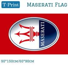 90*150 см 60*90 см полистер Maserati красный автомобиль флаг вне двери использовать для Гоночный флаг цифровой печати