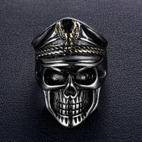 Yüksek kaliteli Yeni 316L Paslanmaz Çelik yüzük Serin Memuru Diktatör Yeni mans için Tasarlanmış kafatası yüzük Moda Takı en iyi hediye