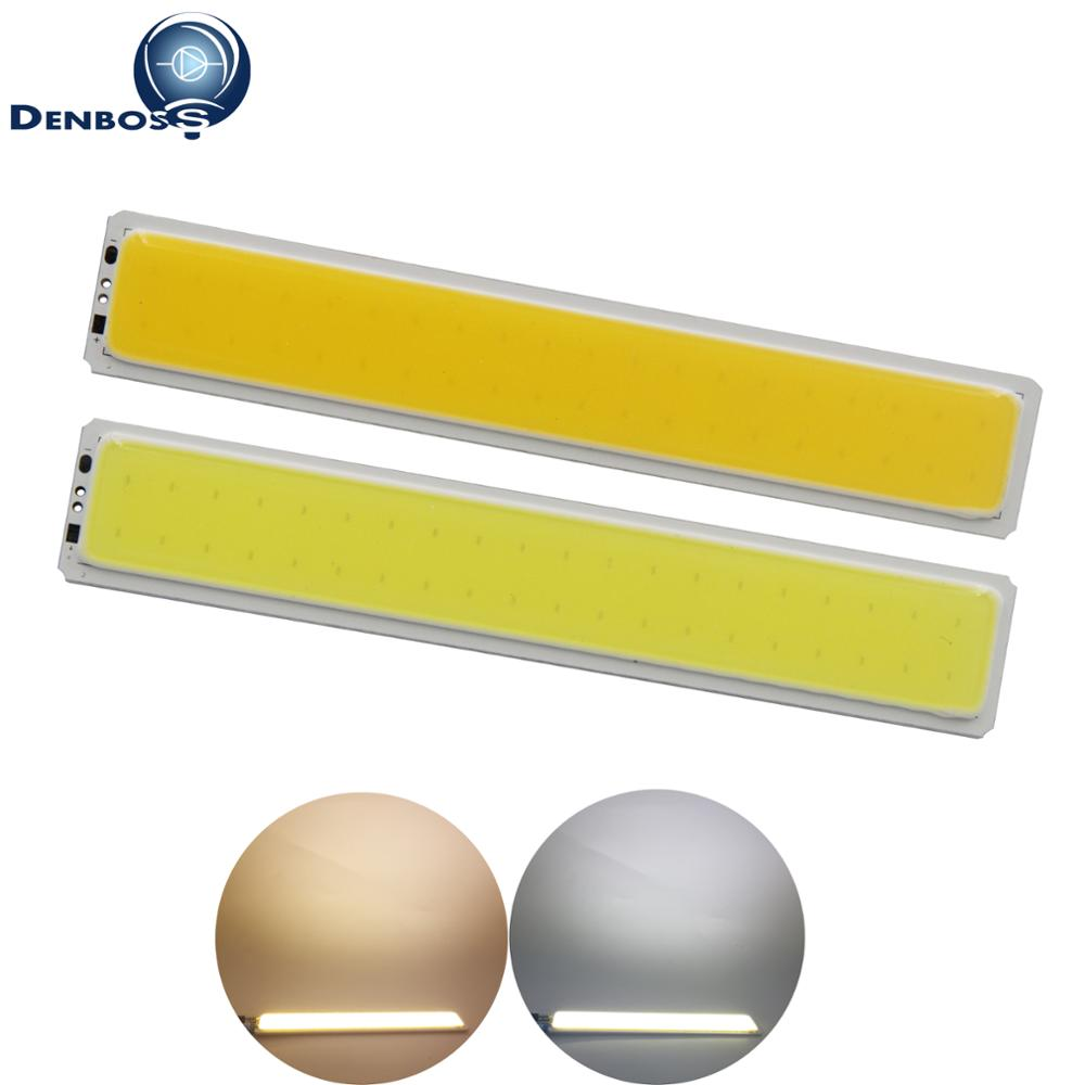 2018 New Arrival Led Cob Bar Strip Light 12v Dc Warm Cold White 7w Diode Cob Led Bulb Tubles Light Source For Diy Drl Light