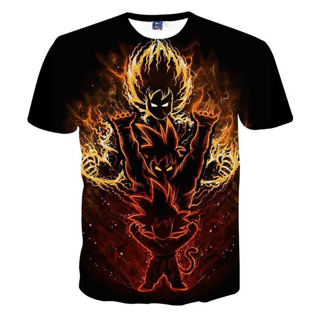 Dragon Ball Z Men's 3D Printing T-shirt