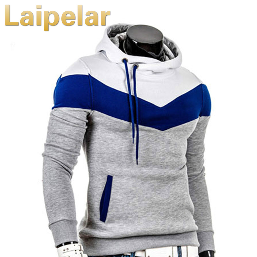 Laipelar Fashionable Men Hooded Pullovers Male Casual Hoodie Soft Fluff Thicken Sweatshirts Autumn Winter Tops Clorblock Hoodies