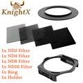 KnightX ND Фильтр КОМПЛЕКТ Для Cokin P Держатель Адаптер для Canon Sony Nikon D7100 D5300 D5200 D3300 D3200 D5500 DSLR 52 58 ММ 67 77 ММ