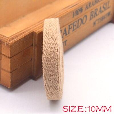 Новые цветные 10 мм шеврон хлопок ленты тесьма сельдь bonebinding ленты кружева обрезки для упаковки аксессуары DIY - Цвет: khaki 802