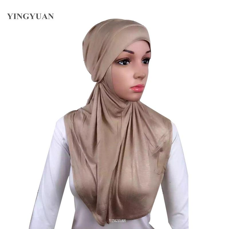 LJ6 Modal dviejų dalių musulmonų hijabo skara Mada hijab galvos skara