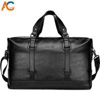 Alena Culian Large Capacity Men's Travel Bags Suitcase Duffel Bag Casual Man Weekend Bag Leather Handbag for Men Shoulder Bags