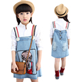 Girls Skirts Spring Brand 2016 Kids Skirts For Girls Good Quality Denim Skirt Kids Clothes For Girls Cartoon Cute Baby Clothes