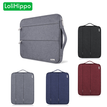 LoliHippo Water-proof & Shock-proof Laptop Liner Bag for Apple Macbook Air Pro 11 13 15 Inch Black Portable Notebook Zipper Bag