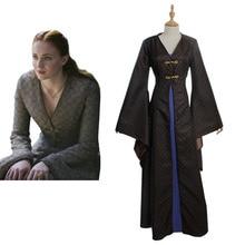 Game of Thrones Cosplay Game of Thrones Sansa Stark Medieval Dress Costume Adult Halloween Cosplay Costume