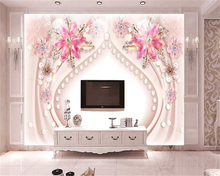 beibehang Advanced Fashion Aesthetic papel de parede 3d Wallpaper Stereo Fancy Jewelry Gemstone Backdrop Decorative Paintings