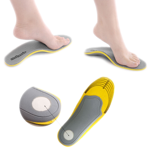 1 pair 3D premium women men comfortable shoes orthotic insoles inserts high arch support pad 1