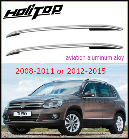 roof rail/luggage bar/roof rack for Volkswagen VW TIGUAN 2008-2016,thicken aluminium alloy,reasonable price,Asia free shipping .