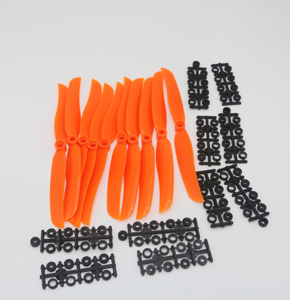 10pcs/lot RC Airplane Orange Propellers EP1160 EP1060 EP9050 8060 6035 5030 Props For RC Model Aircraft Replace GWS
