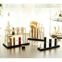 Makeup Organizer Storage Box Cosmetic Storage Box Brush Holder Finishing The Desktop Dressing Table Marble Display Lipstick Rack