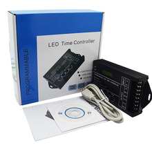 Free Shipping DC12-24V 20A 5 Channel output computer programmable led time controller.TC420 Assemble with USB cable and CD-ROM цена